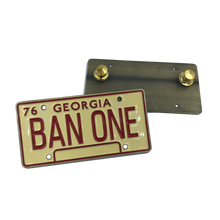 Smokey and the Bandit License Plate Pin BAN ONE Georgia