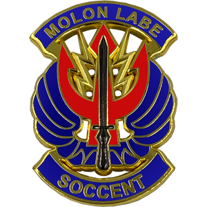 DL2-12 MOLON LABE SOCCENT Pin with dual pin posts Army Navy Air Force Marines Special Operations Command Central SOCum