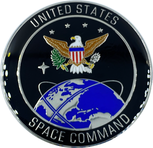 CL12-02 Space Force Space Command USAF Large 2.5 inch full size uniform campaign device (pin) with 3 posts and deluxe locking clasps Air Force