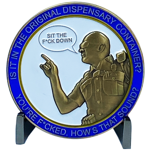 DL1-16 new Version 2 Dispensary Container CSP Challenge Coin inspired by Connecticut State Police CT Trooper Matthew Spina