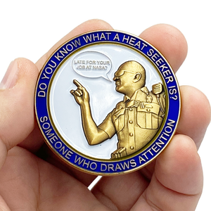 "EL6-012 Heroes of the Highway Version 4 Heat Seeker Edition ""Late for your Job at Nasa"" CSP Challenge Coin inspired by Connecticut State Police CT Trooper Matthew Spina"
