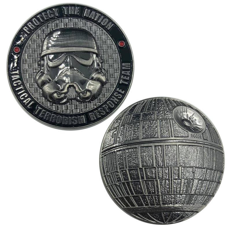 H-011 TACTICAL TERRORISM RESPONSE TEAM 1 TTRT CBP Challenge Coin Storm Trooper Star Wars Death Star