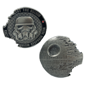 KK-001 Death Star 2 TACTICAL TERRORISM RESPONSE TEAM TTRT CBP Challenge Coin Storm Trooper Star Wars Rogue