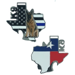 J-022 Texas Police K9 Challenge Coin Bottle Opener German Shepard