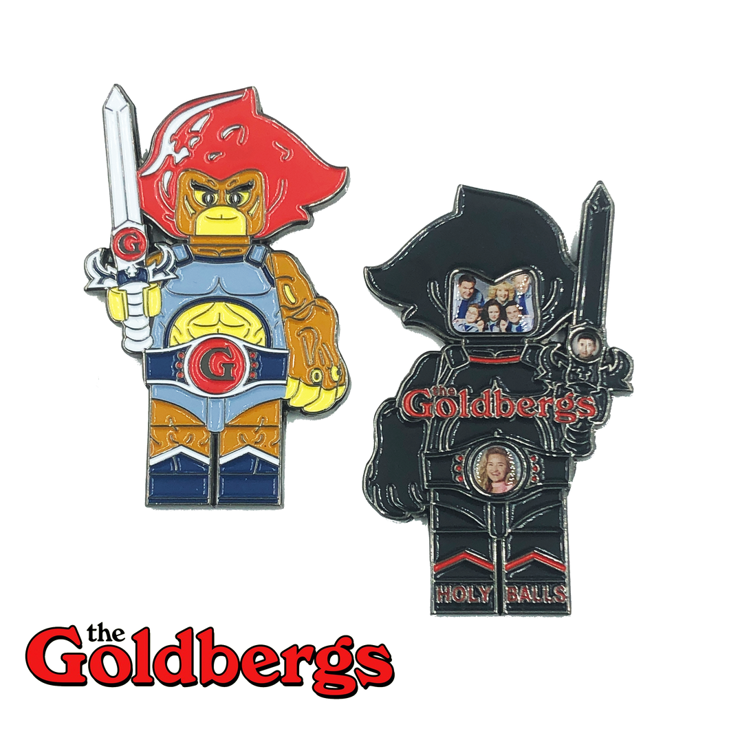 E-012 Officially Licensed Challenge Coin The Goldbergs Thundercats Lion-O inspired Challenge Coin