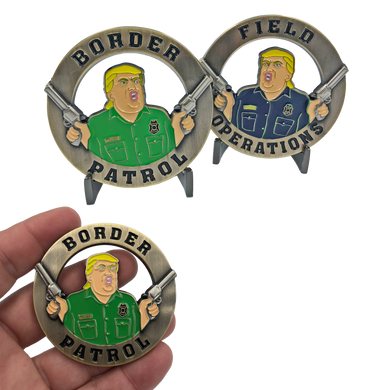 GG-007 Donald Trump CBP Officer and Border Patrol Agent Challenge Coin POTUS MAGA