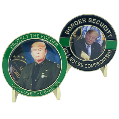 Trump Border Patrol Challenge Coin CBP