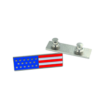 American Flag Commendation Bar Pin Fire Fighter, Police, Military red, white, and blue