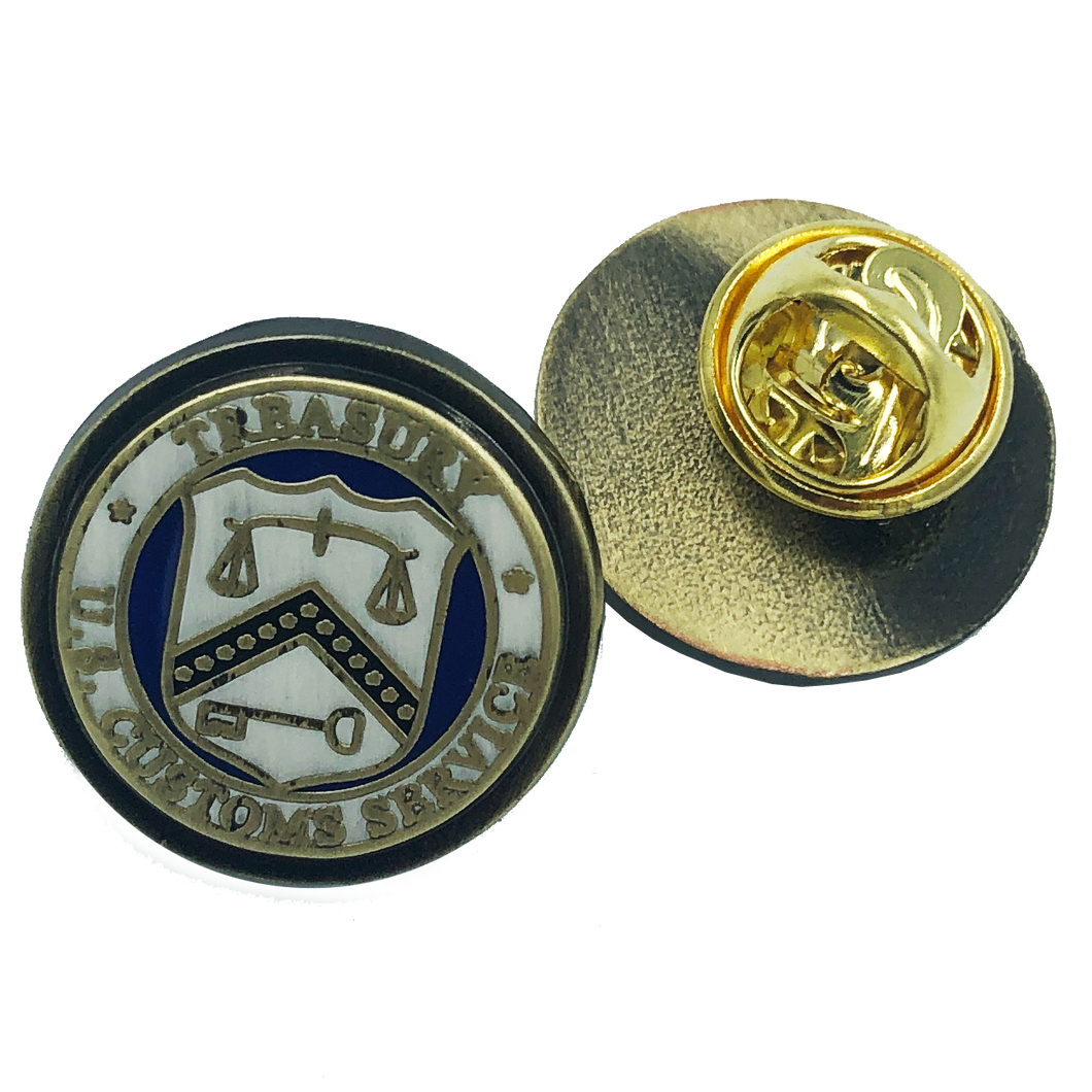 vintage style Legacy U.S. Customs lapel pin or tie tack USCS Special Agent Inspector Treasury