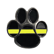 CL-015 K9 Paw Thin Gold Line Canine Lapel Pin 911 Emergency Dispatcher Military Yellow Army Marines Air Force Navy