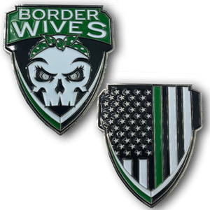 Green Line Border Wives Border Patrol Challenge Coin Wife