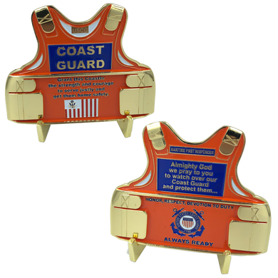Coast Guard Body Armor Challenge Coin Coastie Medallion