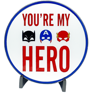 J-007 I Love You Daddy You're My Super Hero Glow-in-the-Dark Challenge Coin inspired by Batman Flash Captain America