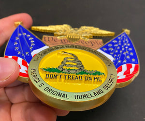 BD-001 2A Don't Tread on Me, We The People, Betsy Ross, 2nd Amendment Challenge Coin Medallion