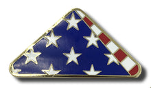 Folded US Flag Pin