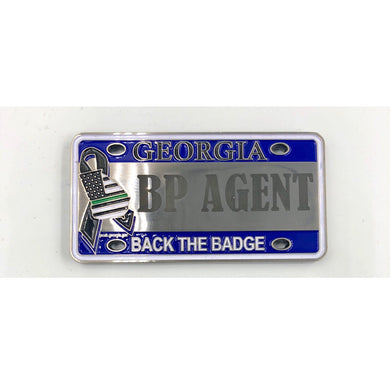 Border Patrol Agent CBP Georgia License Plate Challenge Coin