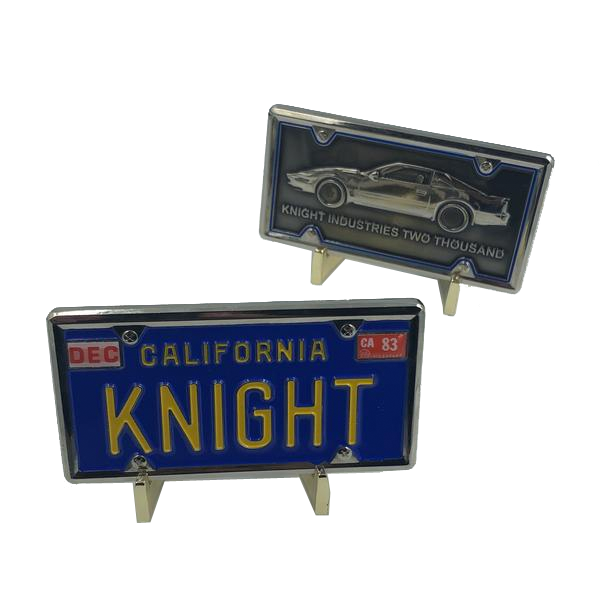 Knight Rider KITT License Plate Challenge Coin Medallion