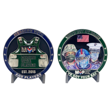 DL11-12 Official Limited Edition MVP Pandemic Heroes Challenge Coins Merging Vets and Players