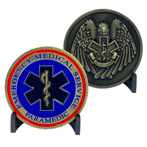 CL11-04 Emergency Medical Services Paramedic ALWAYS ON CALL EMT EMS Challenge Coin