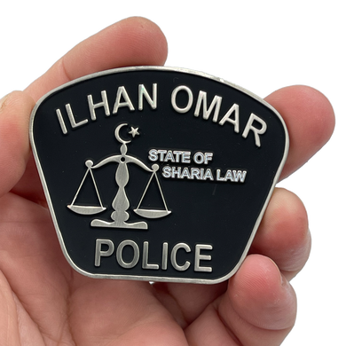 EL6-001 The Official Unofficial Governor Walz Minneapolis Police Department Congresswoman Ilhan Omar Sharia Law Challenge Coin