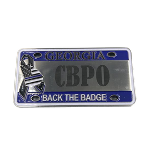 CBP Officer Georgia FLETC License Plate Challenge Coin