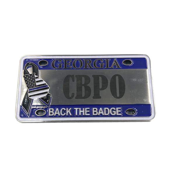 H-003 CBP Officer Georgia FLETC License Plate Challenge Coin