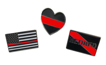 Red Line Pin Set: 3 Law Enforcement Police Pins for $6 Fire Fighter