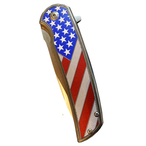 BL1-02 American Flag pocket knife Police Law Enforcement First Responder Rescue Tactical Survival Military Veteran USA
