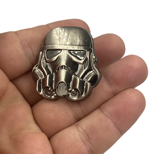EE-016 Star Wars Stormtrooper inspired Storm Trooper pin with dual posts Mandalorian