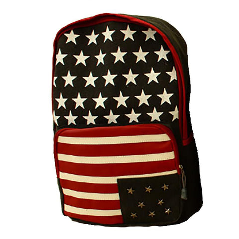 Women's Girls Flag Rivet backpack