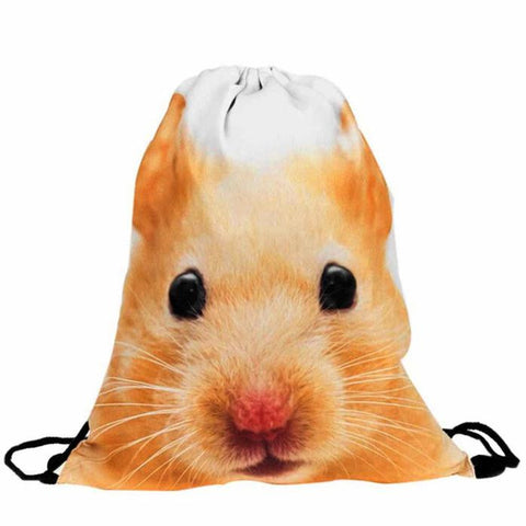 Hamster Drawstring Backpack