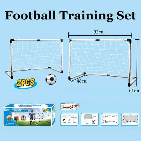 2 Piece Soccer/Football Training Nets and Ball
