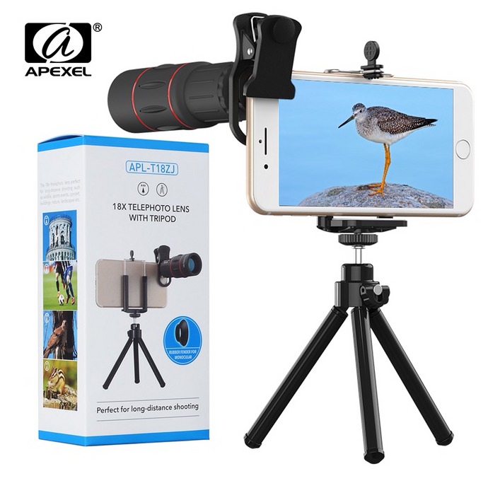 Apexel - 18X Telephoto Smartphone Zoom Lens and Tripod - Modern Idea