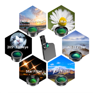Apexel - 6 in 1 Smartphone HD Lens Filter Kit - Modern Idea