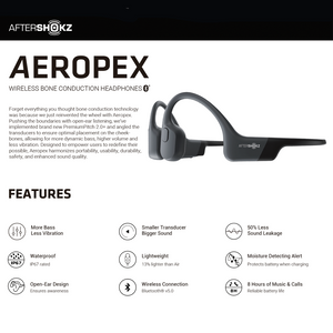 AfterShokz Aeropex - IP67 Waterproof Bluetooth Bone Conduction Headphones - Modern Idea