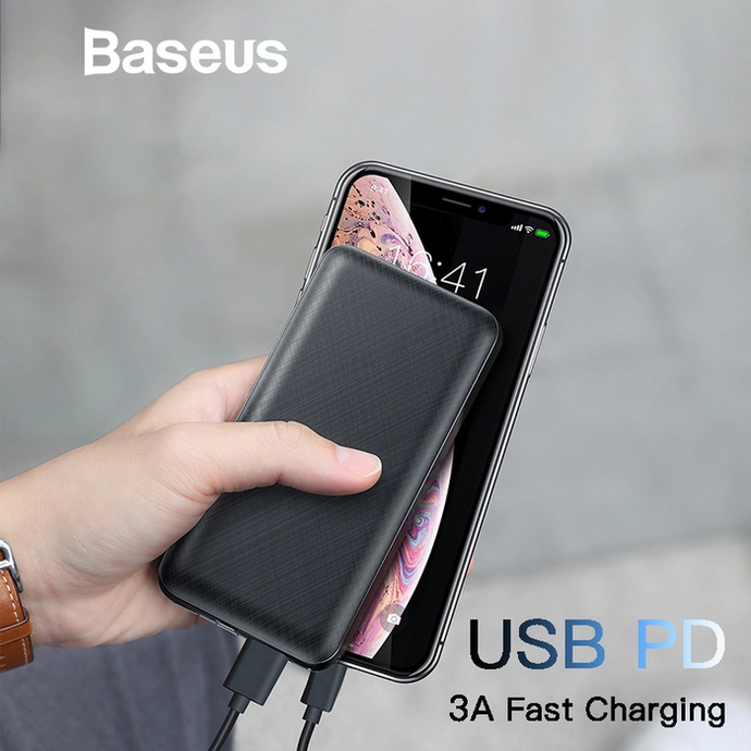 Baseus - Mini Q Fast Charge Triple Port Power Bank 20,000 mAh - Modern Idea