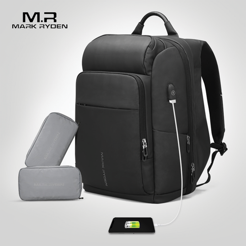 Mark Ryden NAVARRO - USB Charging Backpack with Heat Preservation Pocket - Modern Idea