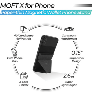 MOFT X - Phone Stand Wallet Grip & Car Mount in 1 - Modern Idea