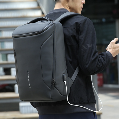 Mark Ryden COMPACTO - Waterproof Vinyl USB Backpack - Modern Idea