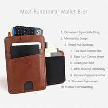 Load image into Gallery viewer, Strapo V2 - RFID Blocking Minimalist Slim Wallet With Easy Access Pull Tab - Modern Idea