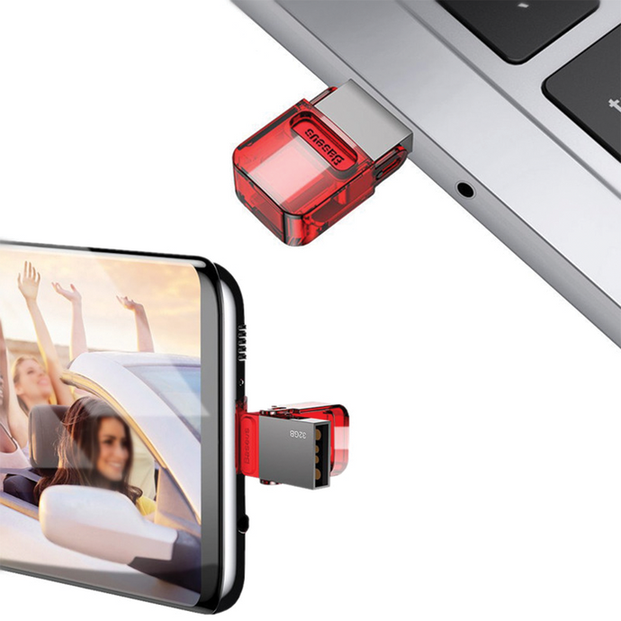 Baseus - 32gb Fast Transfer Interchangeable USB and Type-C Flash Drive - Modern Idea