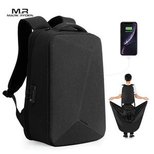 Mark Ryden PROTECTOR - USB Locking Backpack with Built in Rain Poncho - Modern Idea