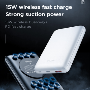 Joyroom - Suction Cup 15W Wireless Fast Charging Power Bank 10000 mAh - Modern Idea
