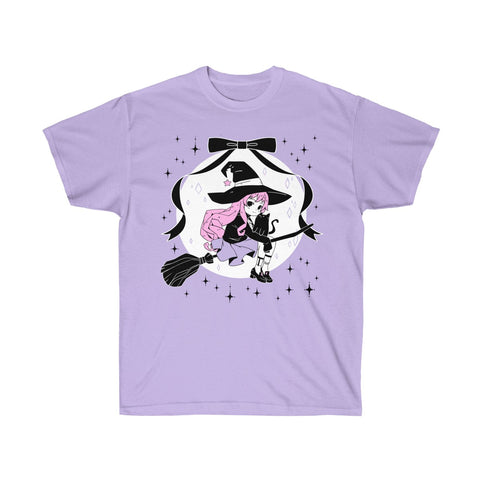 LILITH Witch T-Shirt (Lilac) by fawnbomb