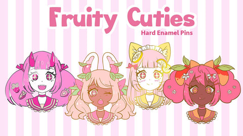 Fruity Cutie Pins by fawnbomb - peachiieshop