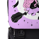 LILITH Witch Backpack (Black x Lilac) by fawnbomb