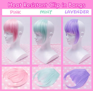 Pastel Fairy Kei Clip in Bangs