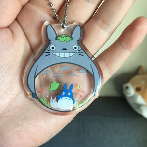 "2.25"" Ghibli Keychains - Calcifer Totoro No Face"