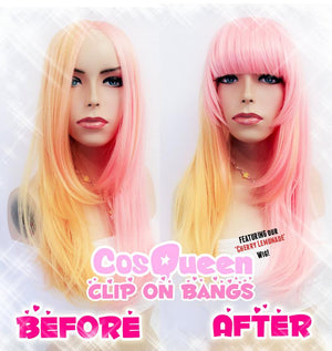 Colorful Clip in Bangs (ONE) - peachiieshop