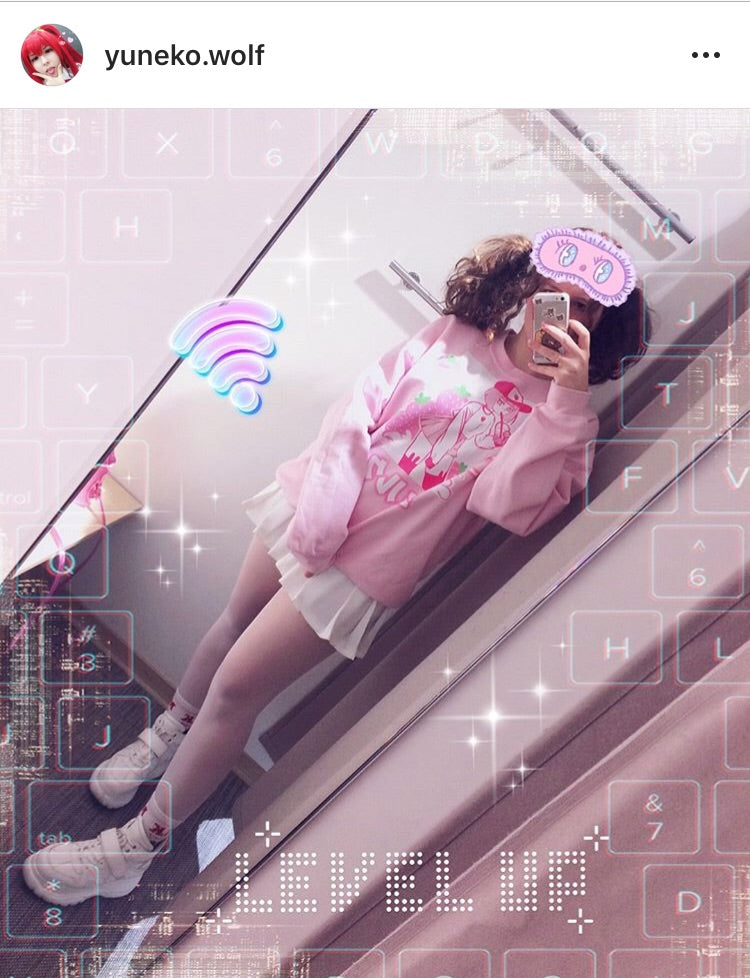 'ICHIGO MILK TEA / いちごミルク/ Strawberry Milk Tea Sweater Pink by Fawnbomb - peachiieshop